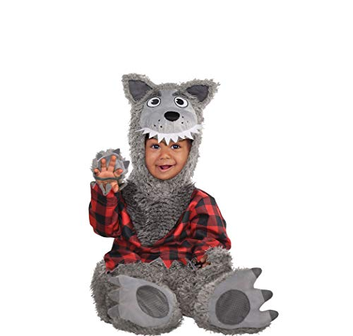 Amscan 848192 Baby Wolf Costume - 6-12 Months, Black -