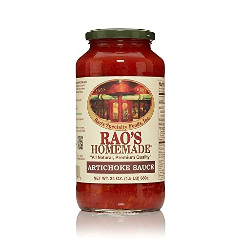 Rao's Homemade Artichoke Sauce, 24 Oz Jar, Pack of 3, Classic Italian Tomato Sauce, Great on Pasta, Made With Fresh Basil, Italian Tomatoes, Artichokes, Garlic, Black Pepper, No Sugar Added
