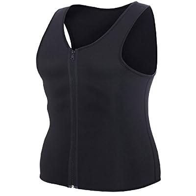 Men Waist Trainer Vest for Weightloss Hot Neoprene Corset Body Shaper Zipper Sauna Tank Top Workout Shirt from 80% Neoprene 20% Nylon
