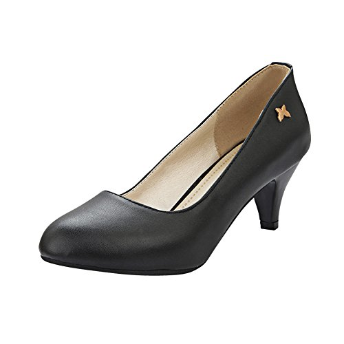 Latasa Damesmode Pumps Met Hak Casual Pumps Zwart