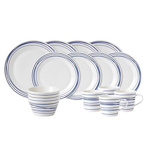 (Royal Doulton 40021448 Pacific 16 Piece Set Lines Dinnerware Set, Multiple )