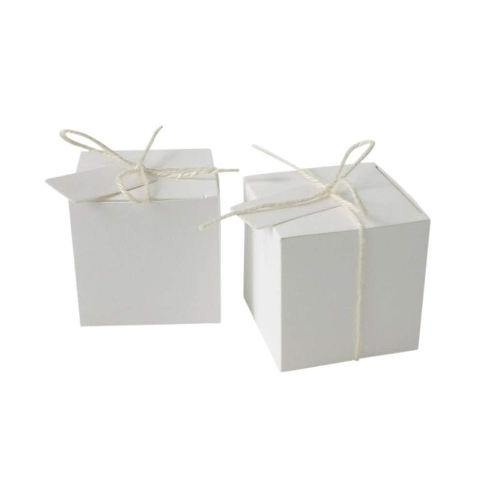TAOtTAO - Cajas de Dulces para decoración de Mesa de Boda, de Lujo, 0.47, Color Blanco: Amazon.es: Deportes y aire libre