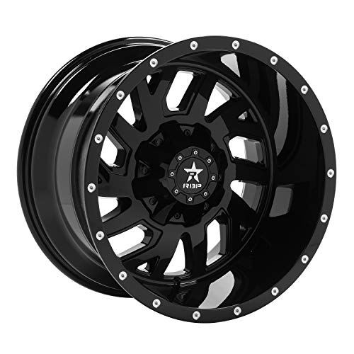 RBP Glock Gloss Black Wheel with Painted Finish (20 x 12. inches /5 x 139 mm, -44 mm Offset)