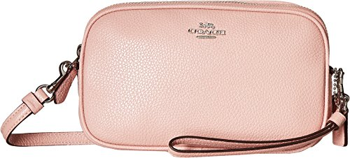Crossbody Polished Clutch COACH Peony Pebble Sv Womens qC4xPUwPg