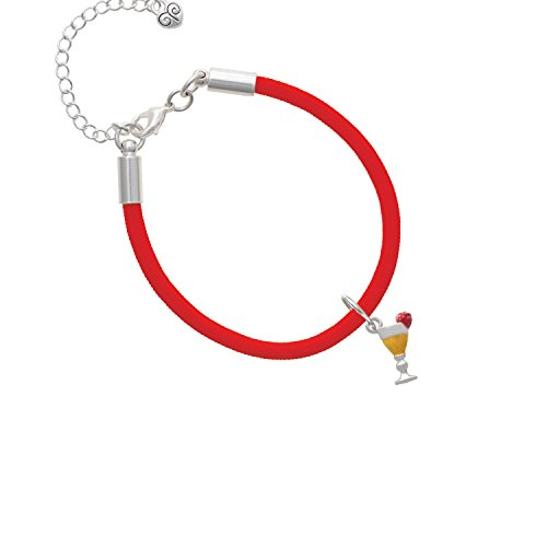 3-D Yellow Tropical Drink Red Malibu Paracord Bracelet