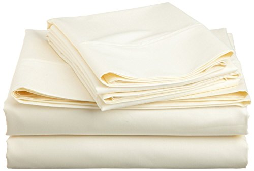 JB Linen 400 Thread Count 100% Pure Egyptian Cotton 4-Piece Sheet Set Cot Bed (30