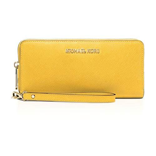 Michael Kors Jet Set Women's Leather Travel Continental Wristlet Wallet