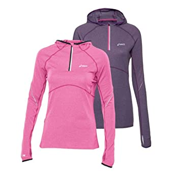 430bbc8feec5 ASICS Women s Long Sleeve Half Zip Hooded Running Top - X Small ...