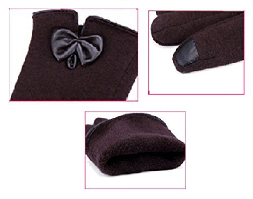 Women's Cashmere Touchscreen Warmer winter Gloves Cashmere Gloves (Kahki) by SIJ (Image #2)