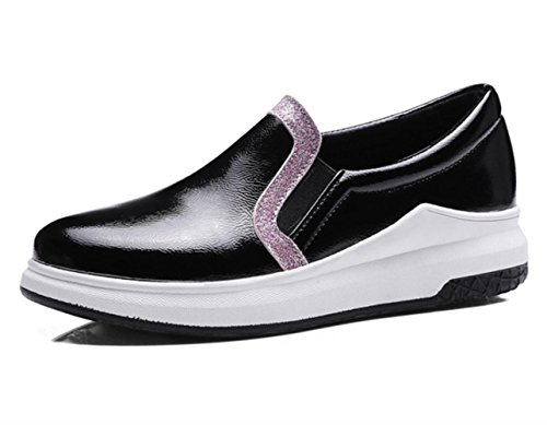 Donne YCMDM donne spesse calze tacchi alti scarpe Carrefour scarpe grandi dimensioni 40-43 scarpe singole , black , 36