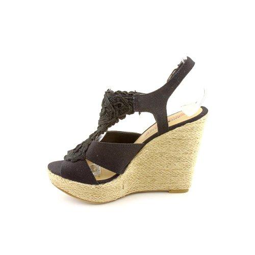 American Womens Peep Platform Black Sandals Toe Rag GRACII Casual UqOrAU