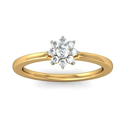 14K Or jaune, 0,21CT TW Diamant Blanc (IJ | SI) en diamant