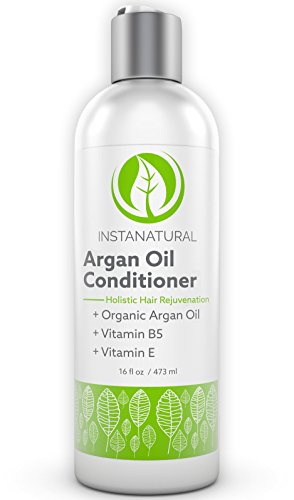 InstaNatural Arganöl Pflegespülung, Haarspülung, Conditioner mit Vitamin B5 für weiches, seidiges & gesundes Haar - gegen Schuppen & trockene Kopfhaut, 100% organisches Bio Marokkanisches Arganoil