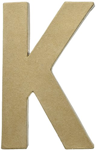 Craft Ped Paper CPL1006251-K.K Mache Letter K Kraft 8
