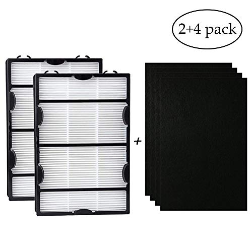 Price comparison product image hothuimin 2Pack HAPF600DM-U2 True HEPA Filter with Enhanced Mold Fighting Power KQLW