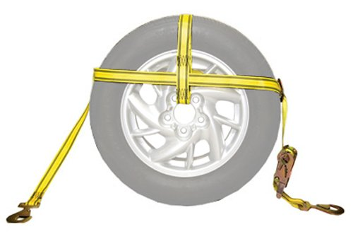e Transport Adjustable Tire Bonnet with Ratchet and Hooks: Fits Tire up to 33