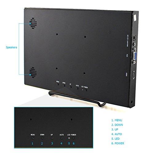 Elecrow 11.6 Inch 1920X1080 HDMI VGA PS3 PS4 WiiU Xbox360 1080P LED Display Moniter for Raspberry Pi 3, 2 1 Model B B+ Windows 7 8 10 System Home Office (Black) by Elecrow (Image #5)