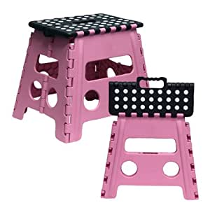 Amazon Com Grip Pink Foldable Step Stool Toys Amp Games