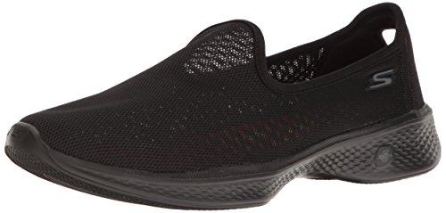 Femmes Synthétique de Skechers Walk Noir Chaussure Airy Marche Go 4 1wPIfq