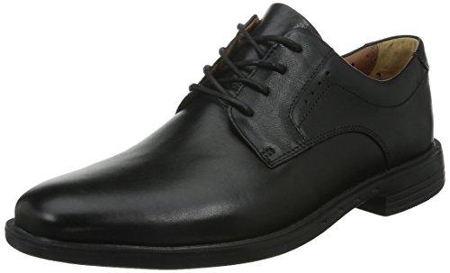 ClarksUnbizley Plain - Derby hombre Negro (Black Leather)