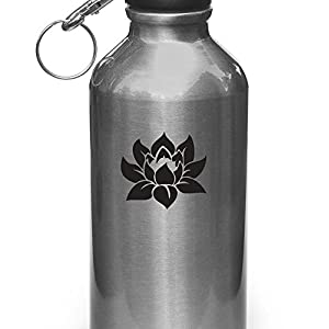 "Lotus Flower - Design 1 - Vinyl Decal for Water Bottle | Thermos Vinyl Decal Copyright Vinyl Decal Copyright © Yadda-Yadda Design Co. (2""w x 2""h) (COLOR CHOICES) (BLACK)"