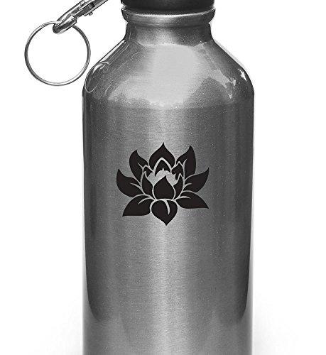 Lotus Flower - Design 1 - Vinyl Decal for Water Bottle | The