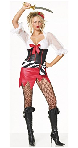Leg Avenue Sexy Halloween Costumes Pirate Wench Costume Outfit Womens U.S. M/L ()