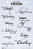 Ranger MDR50391 Just What to Say Dina Wakley Media Cling Stamps, 6'' by 9'', Clear