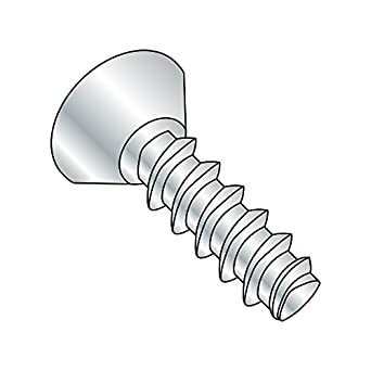 #6-19 Thread Size Phillips Drive Zinc Plated Small Parts 0604LPU Pack of 100 Pack of 100 1//4 Length 82 Degree Flat Undercut Head 1//4 Length Steel Thread Rolling Screw for Plastic