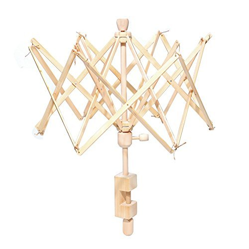 Umbrella Bobbin Winder, Wooden Swift Yarn Winder Holder for Winding Lines, Fiber, Yarns or Other Strings, Medium PiaoLing