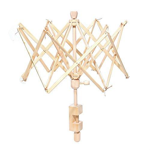 Umbrella Bobbin Winder, Wooden Swift Yarn Winder Holder for Winding Lines, Fiber, Yarns or Other Strings, Medium by piaoling