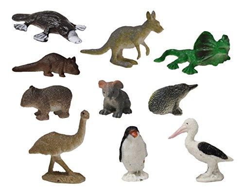 Curious Minds Busy Bags Australian Animal Figurines - Mini Action Figures Replicas - Miniature Animal Playset