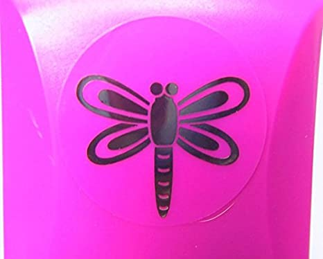 Efco Embossing Punch Dragonfly ~ 32 mm 3 x 3 x 3 cm Pink