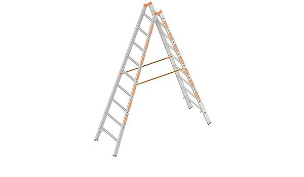 Layher 1039009 espalderas Topic, escalera de aluminio (2 x 9 peldaños, ambos lados, plegable, longitud 2.70 m: Amazon.es: Bricolaje y herramientas