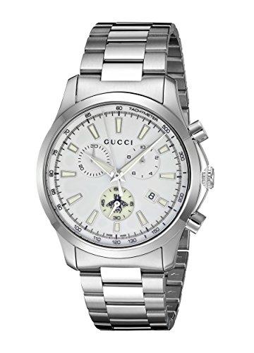 Gucci Men's Swiss Quartz Stainless Steel Dress Watch, Color:Silver-Toned (Model: YA126472)