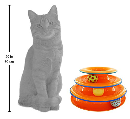 Large Product Image of Tower of Tracks Ball and Track Interactive Toy for Cats, Fun Cat Game by Petstages