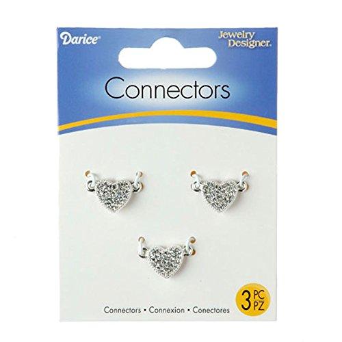 Heart Connector - Darice Rhinestone Heart Jewelry Connector Links