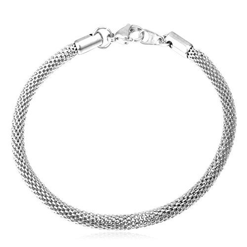Stainless Steel Round Bracelet Inches