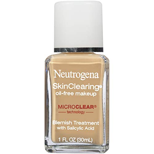 Neutrogena SkinClearing Oil-Free Acne and Blemish Fighting Liquid Foundation with Salicylic Acid Acne Medicine, Shine…