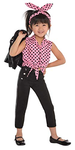 Amscan 846420 Greaser Girl 50S Costume | Small (4-6), Black]()