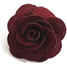 Sunny Home Men's Lapel Flower Handmade Boutonniere Pin for Suit(18 colors)