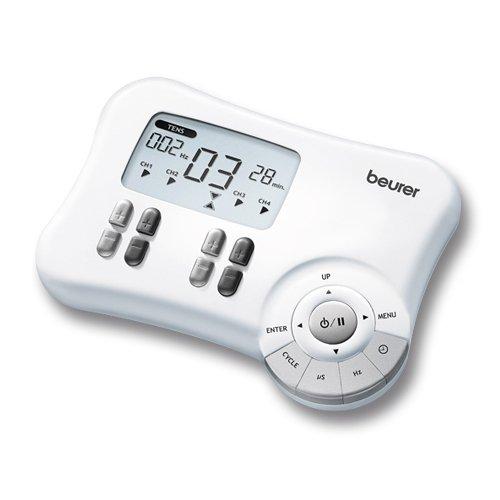 Beurer EM-80 - Electro estimulador digital, 8 canales, EMS/TENS/Masaje, color...