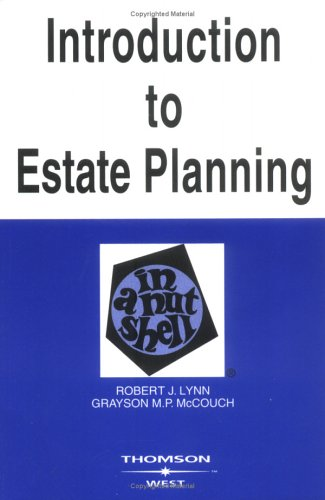 Introduction to Estate Planning in a Nutshell