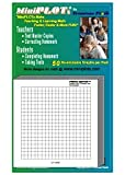 MiniPLOT® Graph Paper: One 3 x 3 inch pad. Each pad contains 50 sheets of X vs Y releasable adhesive backed graphs commonly used for solving ALGEBRA equations.
