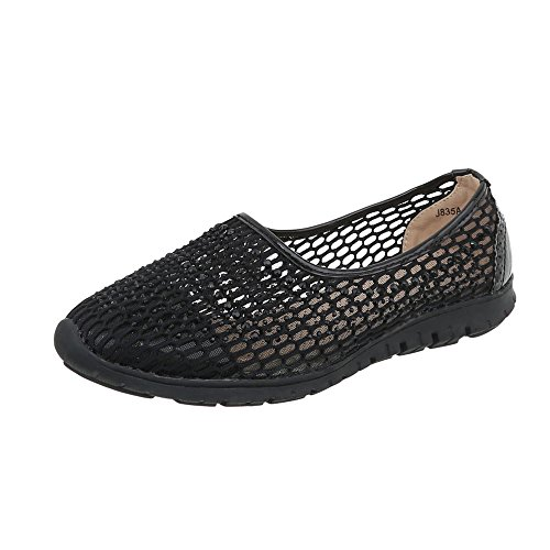 Ital-Design Women's Loafer Flats Flat Slippers at Black J835a modERCqV0X