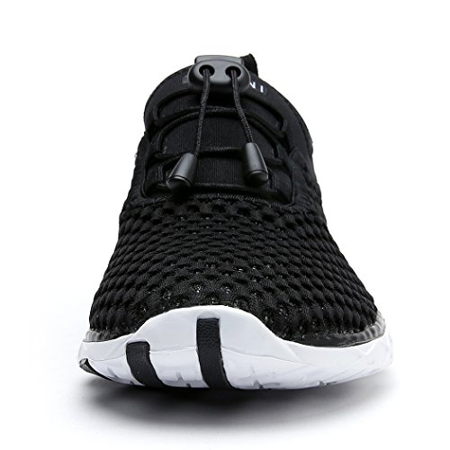 Suokeni Femmes Séchage Rapide Maille Slip Sur Les Chaussures De Leau Noir Blanc