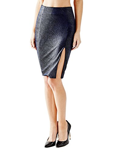Guess-Womens-Velvet-Crocodile-Pattern-Pencil-Skirt
