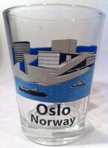 Oslo Norway Opera House Shot Glass
