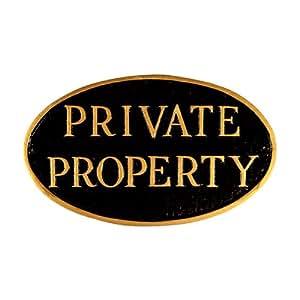 Montague Metal Products propiedad privada Placa de pared Oval