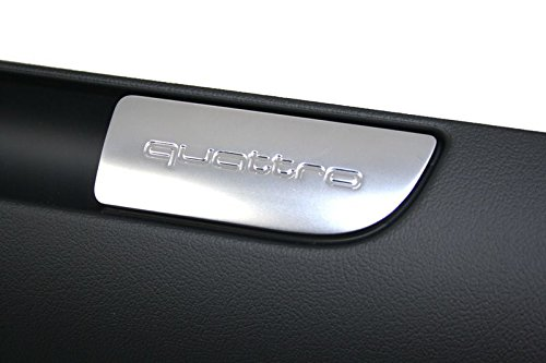 quattro ABERTURA Tapa Negro TAPA GUANTERA original Audi A3//S3 8p incl